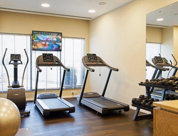 Sadot Hotel gym near Ben Gurion Airport in Israel