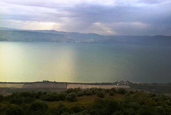 Sea of Galilee at dusk - Yam Kinneret