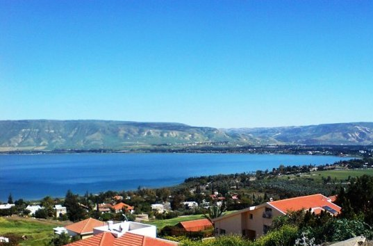 the Sea of Galilee in the north of Israel