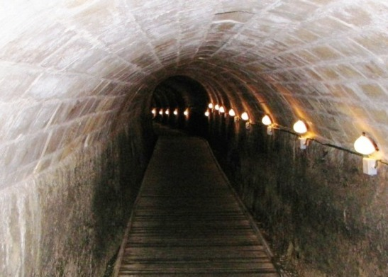 underground Templars Tunnel in Akko (Acre) in the north of Israel