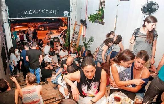 girls night at Shpagat Bar in Tel Aviv