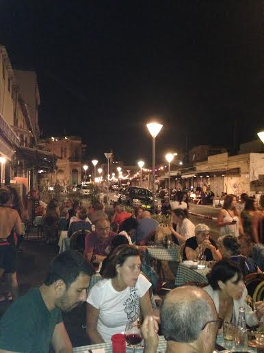 nightlife on a summer night in the Jaffa Flea Market - Shuk Hapishpishim