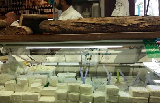 Jerusalem market Shuk Machane Yehuda cheese shop