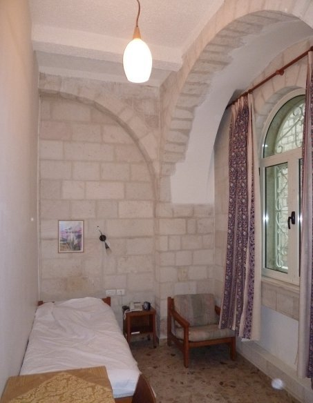 single room at the Lutheran guesthouse in Jerusalem's old city