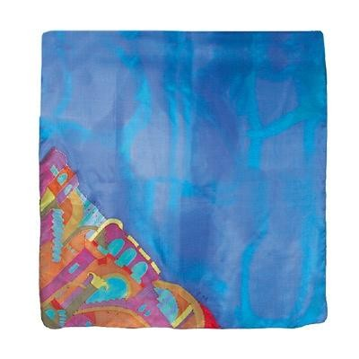 Israeli hand-painted silk scarves these themes from Jerusalem and Israel