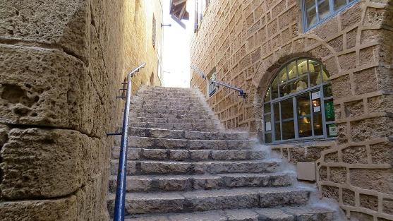winding stairs and alleyways of Jaffa in Tel Aviv Israel