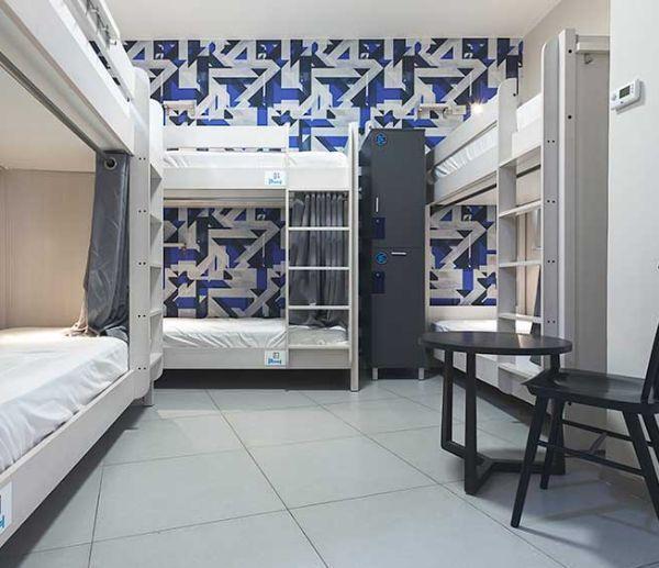 dorm room at the Stay Inn Hostel in Jerusalem