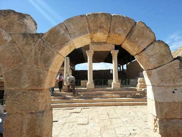 the ancient Synagogue in Susia in the South of Israel