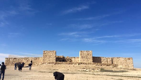 Tel Arad iconic tower gates of the Citadel