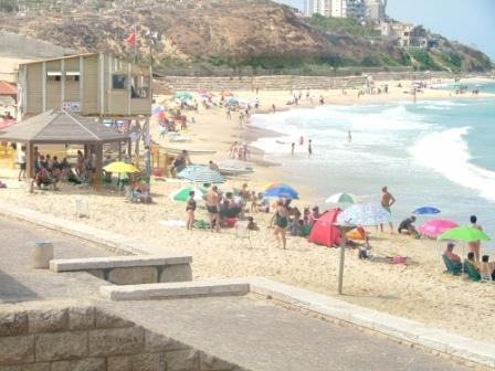Jaffa Beach near Agami, Givat Aliaya Beach in Tel Aviv