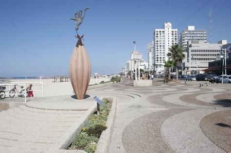 Trumpeldor Beach Statue in Tel Aviv