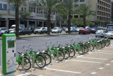 tel aviv bike share system renting bicycles