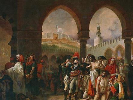 painting of napoleon siezing jaffa