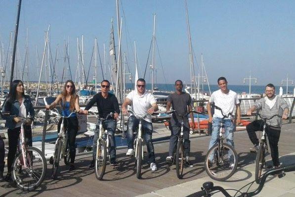 Tel Aviv Bike Tour near the Tel Aviv Marina