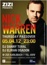 tel aviv news nick warren plays at zizi club tel aviv april passover