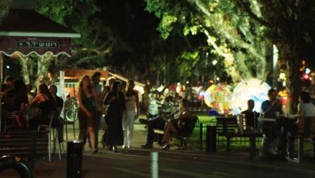 Tel Aviv-Yafo Streets Rothschild Night Scene
