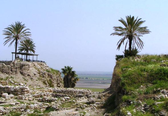 Tel Megiddo Armageddon with view of Jezreel Valley