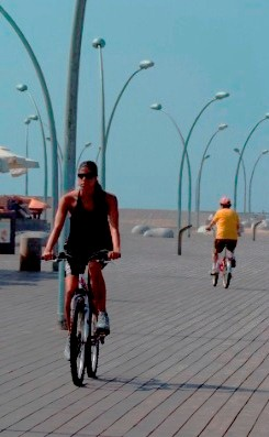 Cycling at the TelAviv port - Namal Tel Aviv