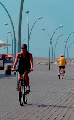 Cycling at the TelAviv port - Namal Tel Aviv