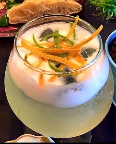 Best Tel Aviv restaurants The Local refreshing cocktail with vodka, lemongrass and citrus peels