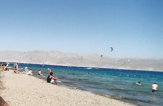 Israel's Coral (Almog) Beach on the Red Sea in Eilat