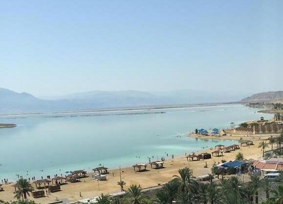 Ein Bokek beach along the Dead Sea