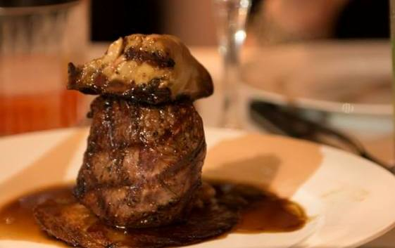 Tournedos Rossini at Montefiore Restaurant in Tel Aviv