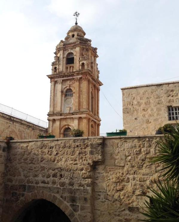 bell tower of the Church of the Cross in Jerusalem