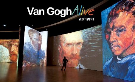 entertainment in tel aviv art exhibition van gogh alive