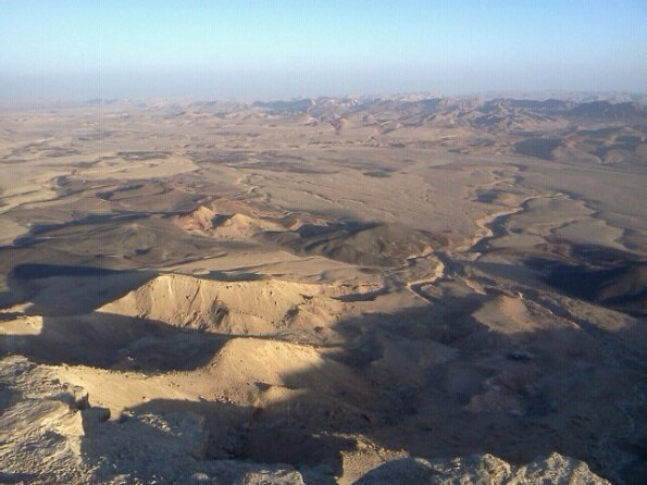 View from Makhtesh Ramon Crater in the Negev Israel Desert