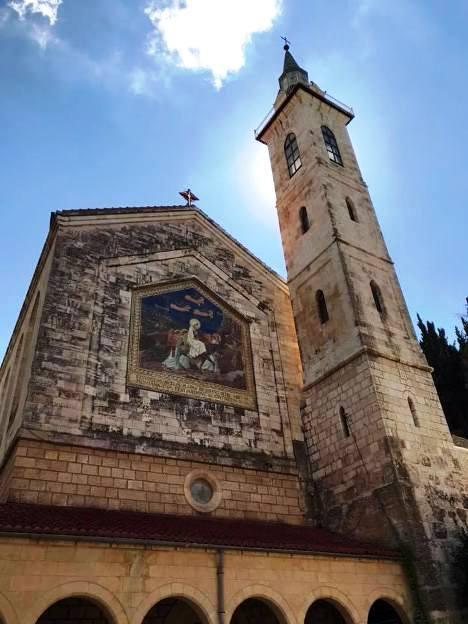 The Visitation Church in Ein Karem in the hills of Jerusalem