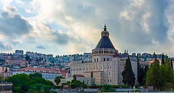Vista of Nazareth and the Annunciation Church