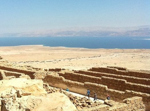 walking among the ruins of Masada