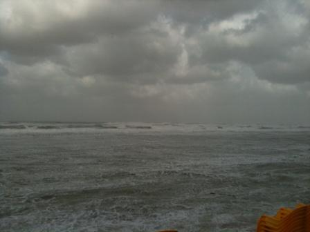 Weather in Tel Aviv on a Storm Winter at Mandarin Beach Hof Hatzuk
