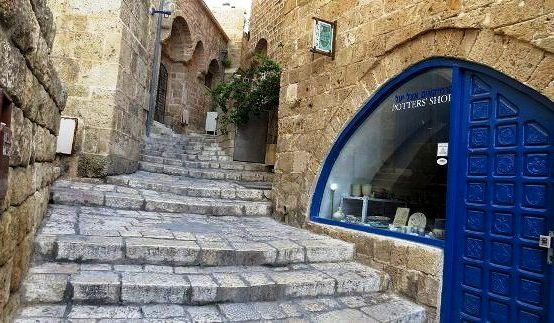 winding, staired alleyways of old Jaffa in Tel Aviv