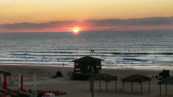 a typical tel aviv beach sunset