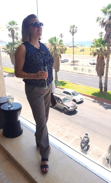 Ayelet Porat in Tel Aviv from Herbert Samuel restaurant near the sea