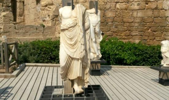 Caesarea national park Roman statues