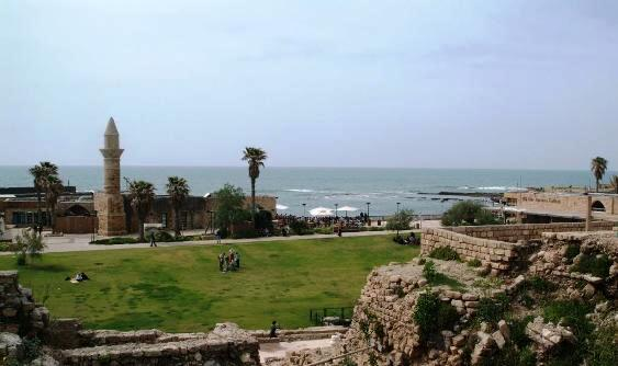 Sea view from Caeserea Israel