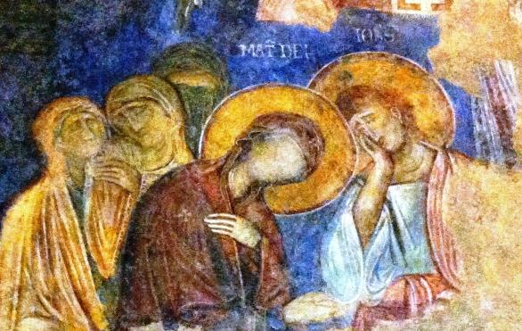 Abu Ghosh frescoes at the Crusader Church at the Benedictine Monastery