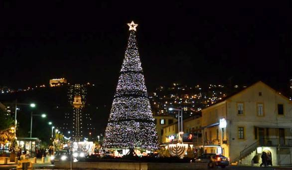 Christmas at the Bahai Gardens in Haifa Israel