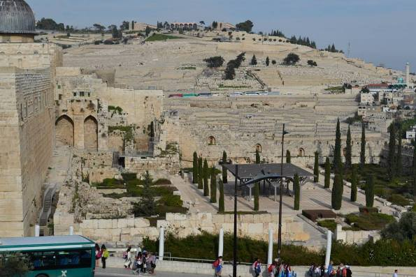 Davidson Center and Mount of Olives in Jerusalem