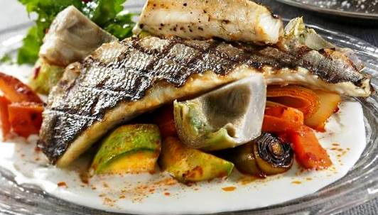 kosher fish and pasta at Deca Restaurant in Tel Aviv