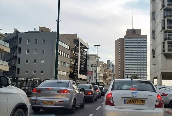 During rush hour, traffic jams are common in the big cities like Tel Aviv and Jerusalem