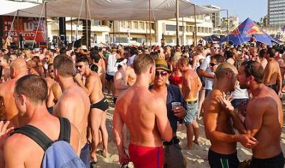 gay beach party during the tel aviv love parade