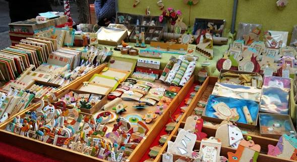 Souvenirs and trinkets at the Carmel Market in Tel Aviv