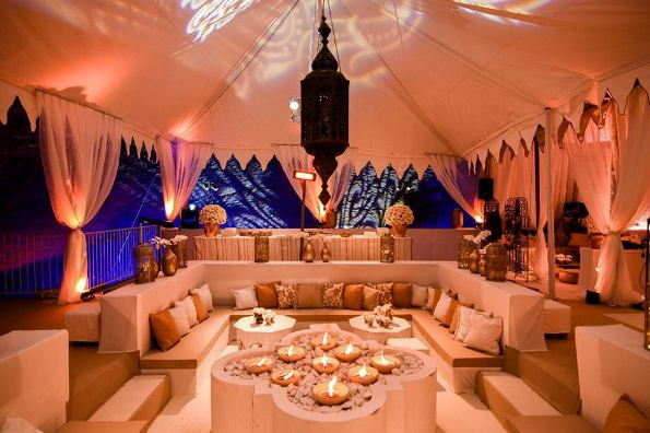 unique Israel event in an elegant tent in the desert