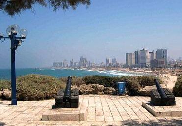 israel jaffa sea view of tel aviv napoleon cannons