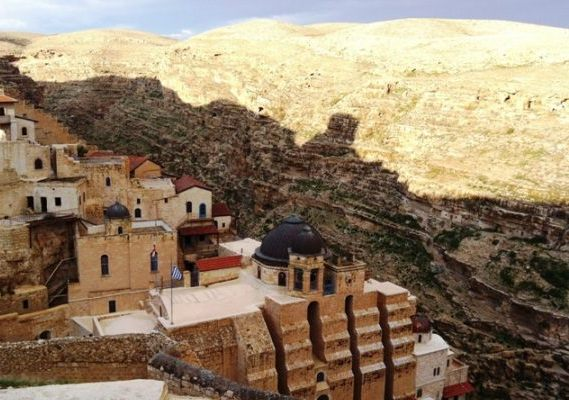 Mar Saba Monastery in the Judean Desert in Israel