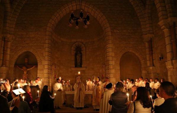 catholic mass at the Notre Dame Jerusalem Center